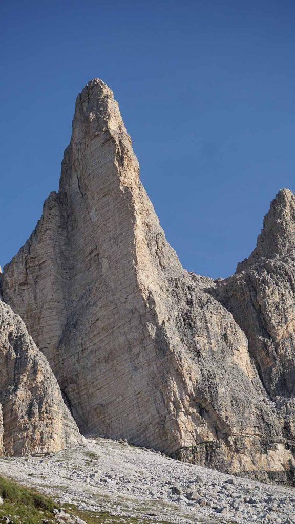 Italien Drei Zinnen Gelbe Kante