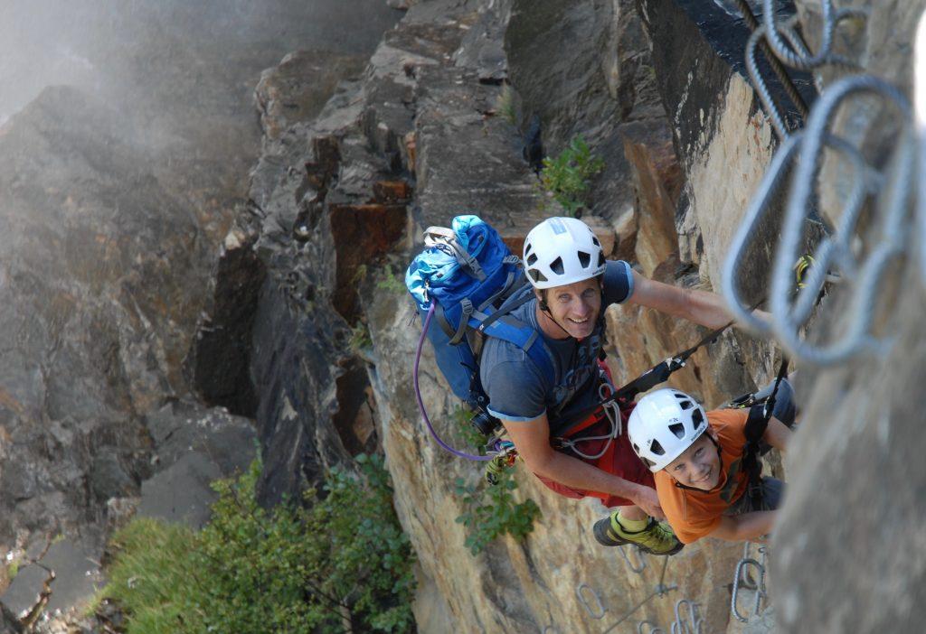 Klettersteig mit Kindern