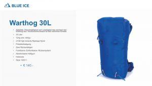 Der Warthog 30 L ist Bein Rucksack für Bergführer und ambitionierte Bergsteiger.