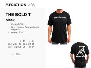 FrictionLabs T-Shirt 60% ring-spun Baumwolle 40% Polyester Größen S – XL