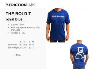 Cooles FrictionLabs T-Shirt 60% ring-spun Baumwolle 40% Polyester Größen S – XL