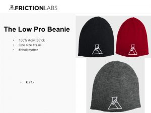 FrictionLabs Low Pro Beanie 100% Acryl Strick One size fits all #chalkmatter