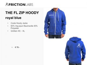 Coole FrictionLabs Hoody Jacke 60% ring-spun Baumwolle 40% Polyester Größen XS – XL