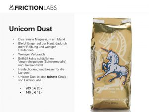 Unicorn Dust I ist das feinste Chalk von FrictionLabs